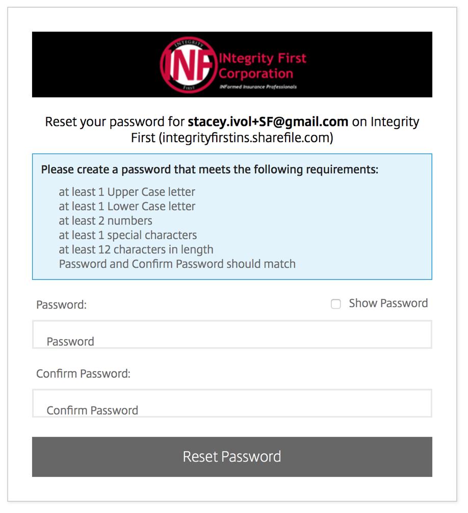 citrix sharefile password reset